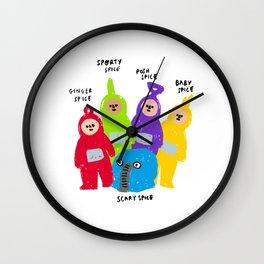 Spice Girls x Teletubbies Digital Illustration Wall Clock