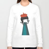 queen Long Sleeve T-shirts featuring Queen by Volkan Dalyan