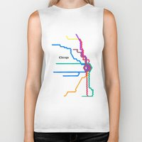 subway Biker Tanks featuring Chicago Subway by Abstract Graph Designs