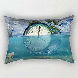 Floating Clock Rectangular Pillow