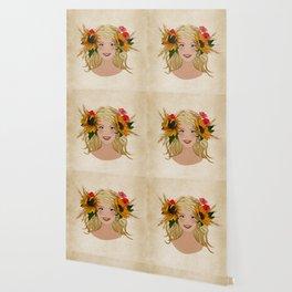 Sunflower Girl Wallpaper