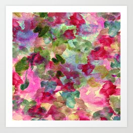 watercolor abstract floral Art Print