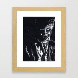 Pretend Like I'm Dead Framed Art Print