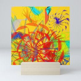 The marathon goes to a heat: abstract art is devoted to athletes to runners Mini Art Print