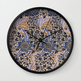 Floral Pattern II Wall Clock