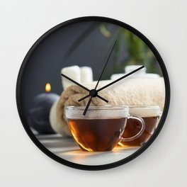 tea and spa composition Wall Clock