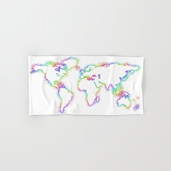 World map Hand & Bath Towel