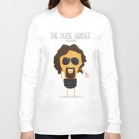 the big lebowski Long Sleeve T-shirts featuring  The Big Lebowski by BajuKhaju