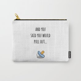 Oops Its a boy, funny pregnancy announcement Carry-All Pouch