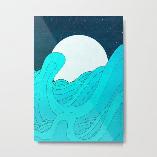 The Moon and the Sea Metal Print