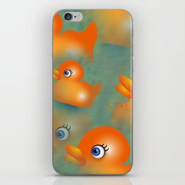 Orange Rubber Duckies iPhone Skin