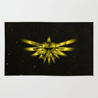 triforce Area & Throw Rugs featuring Zelda - Triforce by albert Junior