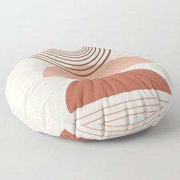 Geometric Modern Shapes, Art Floor Pillow
