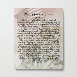 US Marine Corps - Defender's Prayer Metal Print
