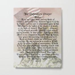 US Marine Corps - Defender's Prayer Metal Print
