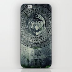 Super Mario Memorial Stone - Bros Before Hoes iPhone & iPod Skin