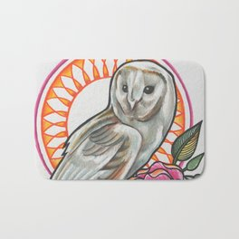 'OWL' - Ruth Priest Bath Mat