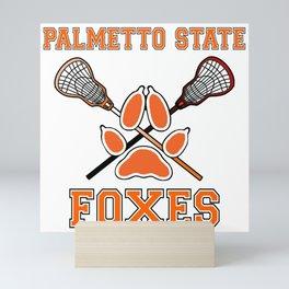 Palmetto State Foxes Exy Crest Mini Art Print