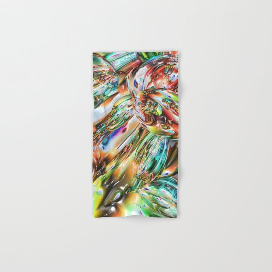 Colorful Melted Glass Hand & Bath Towel