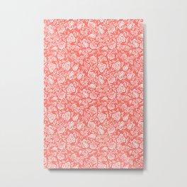 living coral rose bed Metal Print