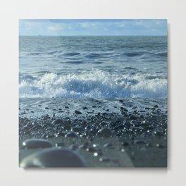 Black Sand Beach Metal Print