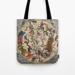 Keller's Harmonia Macrocosmica - Southern Celestial Hemisphere 1708 Tote Bag