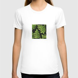 Graphic leaves T-shirt