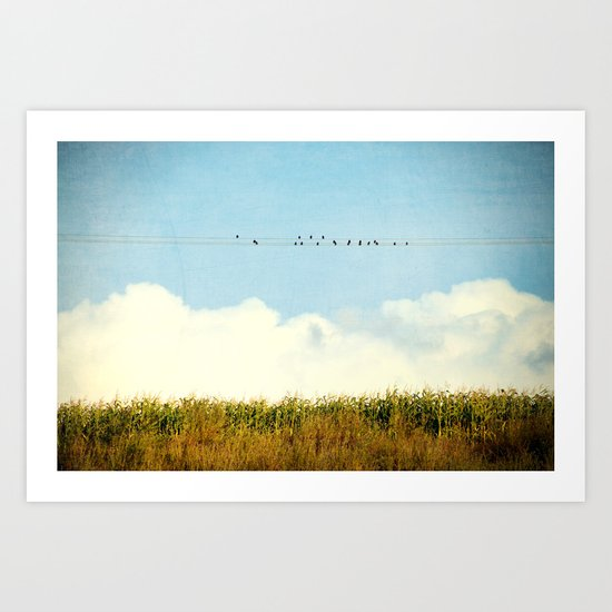 A Chirpy Day Art Print