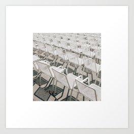 Chairs a la Hamburgian Summer Art Print
