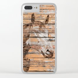 Horse Face Clear iPhone Case