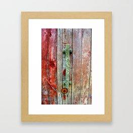 Tree house door handle Framed Art Print