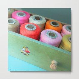 Sew Bright Metal Print