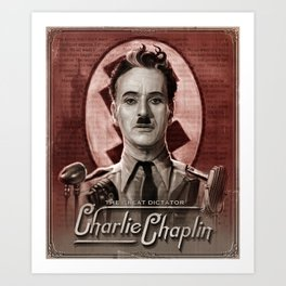 The Great Dictator - Charlie Chaplin Art Print