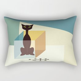 Schrodinger's cat Rectangular Pillow