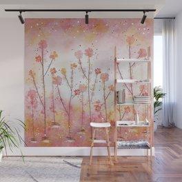 Pink Field of Flowers Wall Mural