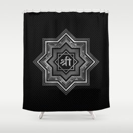 Silver Star of Lakshmi - Ashthalakshmi  and Sri Shower Curtain