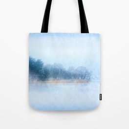 Foggy Winter Evening On The Corrib In Galway Ireland Tote Bag