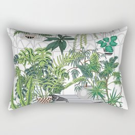 greenhouse illustration Rechteckiges Kissen