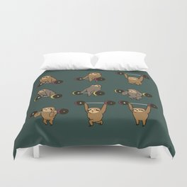 OLYMPIC LIFTING SLOTHS Duvet Cover