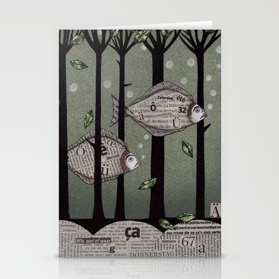 A Fishy Story Stationery Cards