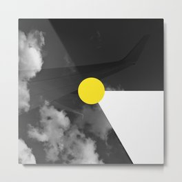 Night Flight Yellow Metal Print