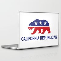 political Laptop & iPad Skins featuring California Political Republican Bear  by Republican