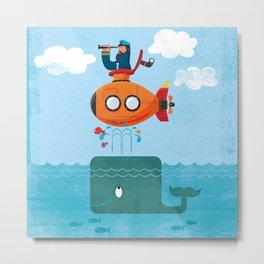 Whale Ahoy Metal Print