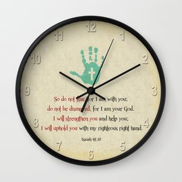 I will uphold you! Wall Clock