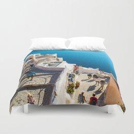 Oia,Santorini Duvet Cover
