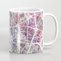 madrid Mugs featuring Madrid map by MapMapMaps.Watercolors
