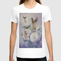 fireflies T-shirts featuring Girls and Fireflies by SandraSueSteiner