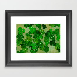 shamrocks Framed Art Print