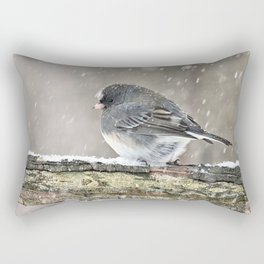 Once Upon a Snow Bird: Junco Rectangular Pillow