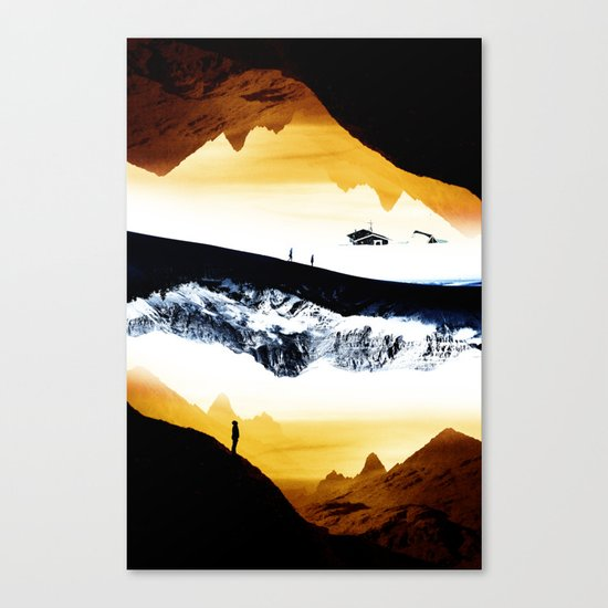 Hiking for Blue Isolation Canvas Print